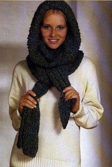 Напоминает если помните шапку-трубу. вот что нашла...и шарф и палантин и шапка и все в одном.