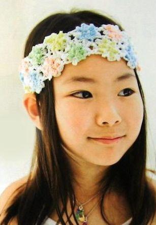 Описание: вязаная повязка на голову для девочки коса схема.