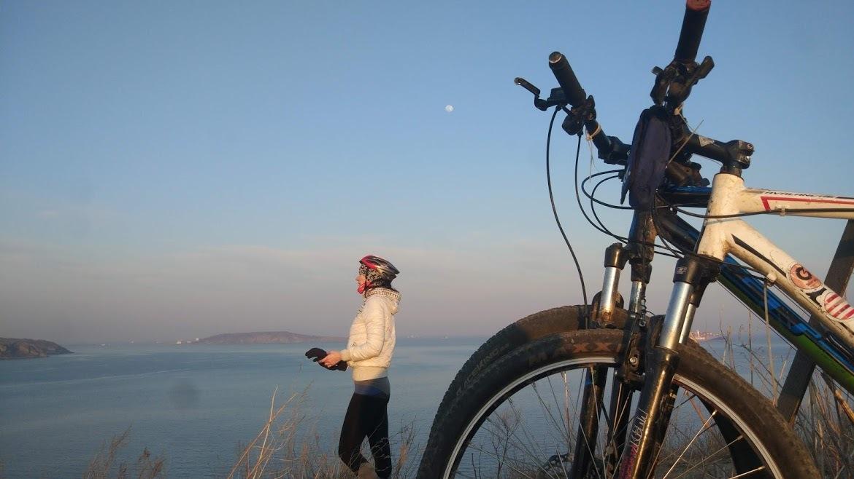 вечерний велосипед
