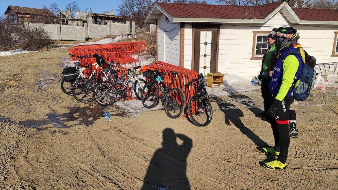 велосипед в бухте Новик