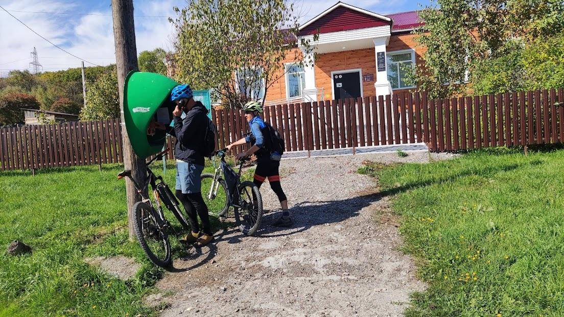 велосипед в тайге