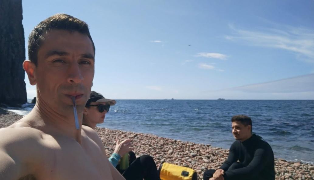 остров Шкота на сапе