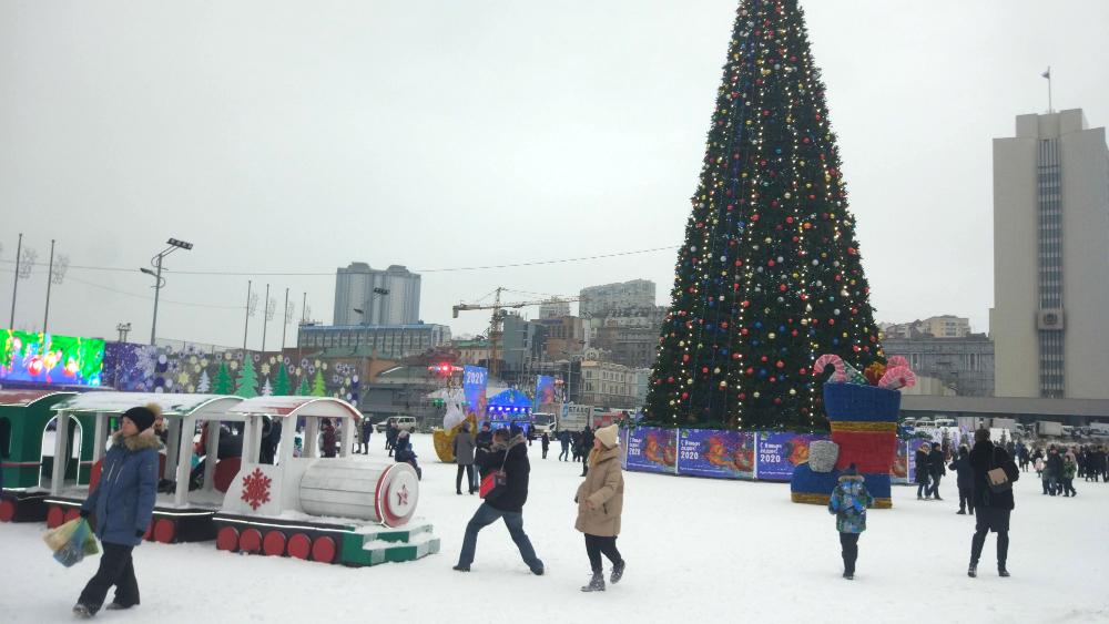 новогодний Владивосток