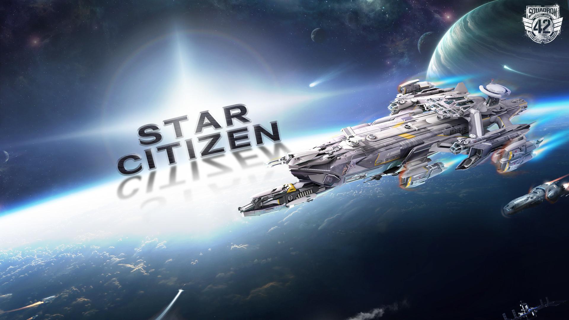 Геймплей шутера на рельсах Star Citizen