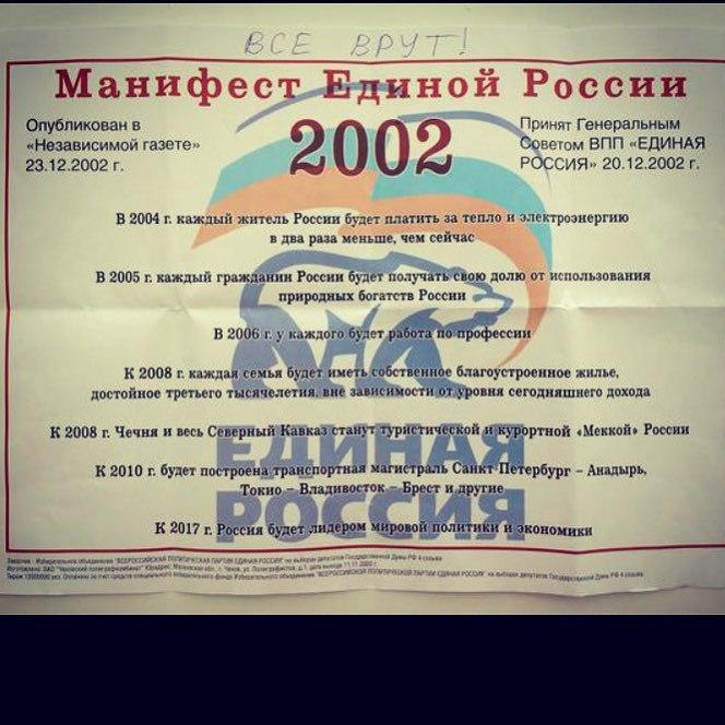 Манифест Единой России