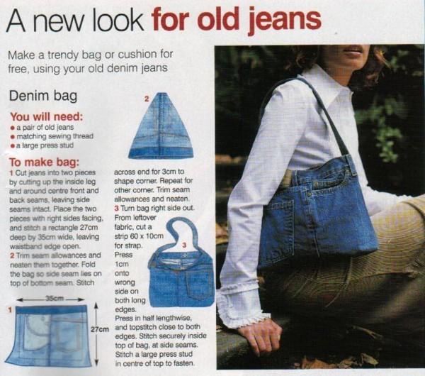 Фото выкройка сумки из джинсов, Сумки.
