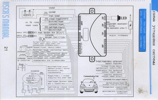 Фото №32 - точки подключения сигнализации с автозапуском ВАЗ 2110