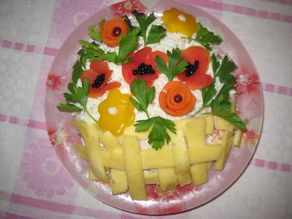 салат цветочная корзина рецепт