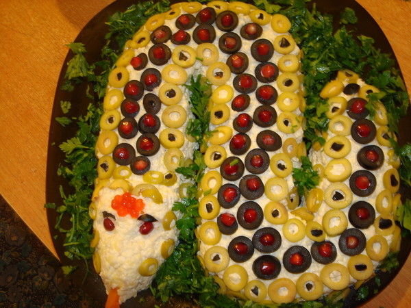 Салат змейка 2013 с фото