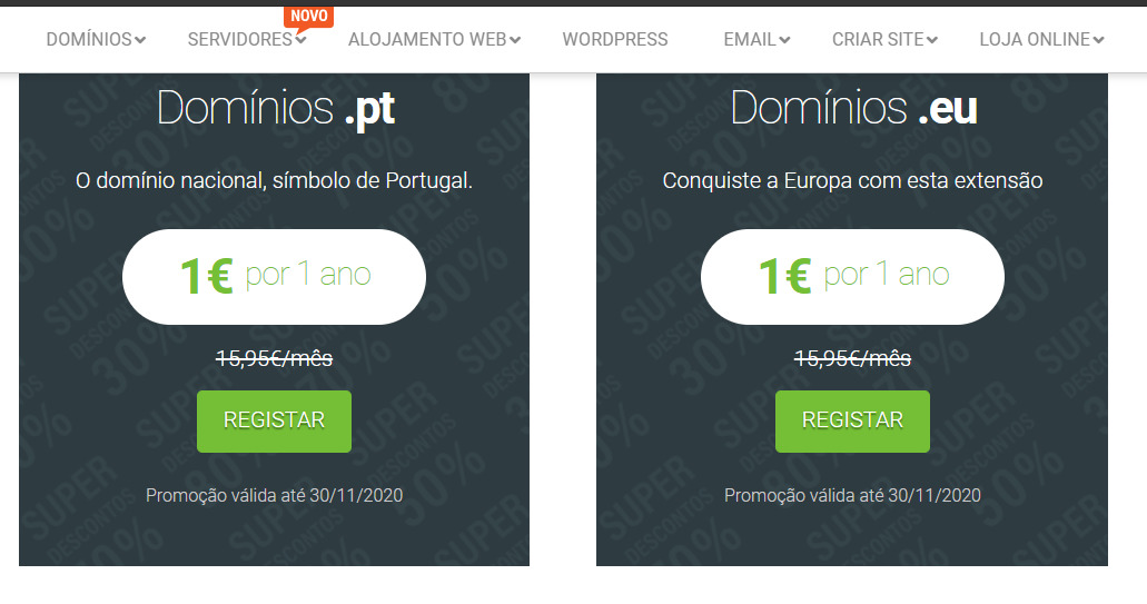 Dominios黑五促销:.pt.eu域名首年1欧;.fun.website.space首年0元