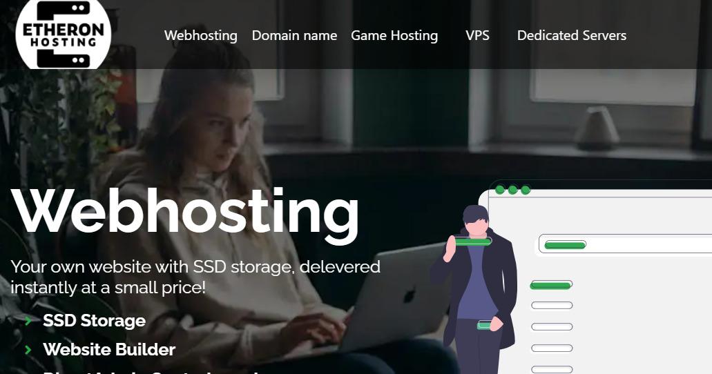 Etheron Hosting测评 – 1核/1G内存/25G硬盘/不限流量/200M带宽/1.5TDDoS防护/KVM/荷兰/€2.55/月