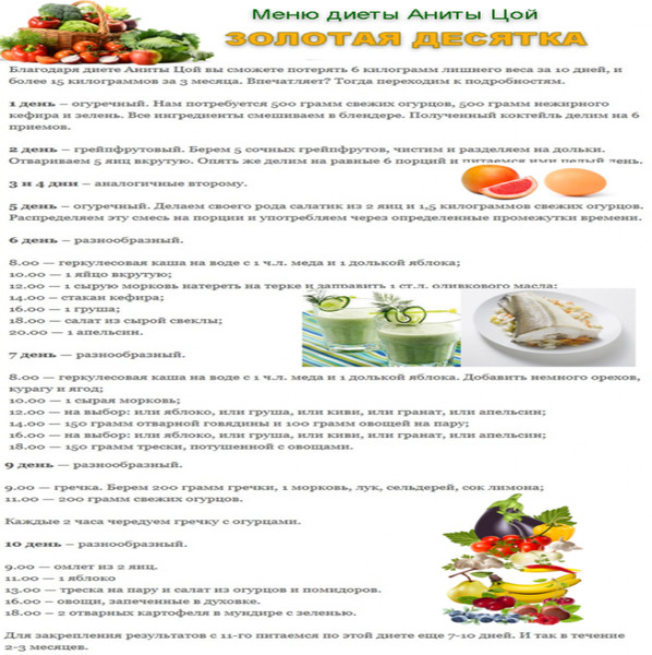 Овощная диета отзыв