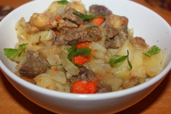 как приготовить рагу с картошкой капустой и мясом