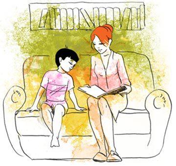 прекрасная рисунок я читаю вместе с мамой образом