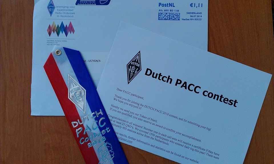 Dutch PACC contest 2016