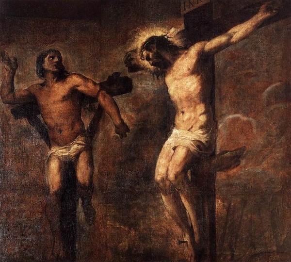 Тициан. Христос и Вор на Голгофе (1566)