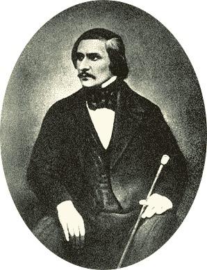 Единственное фото Гоголя (фрагмент группового снимка) работы Сергея Левицкого. Рим, 1845 г.