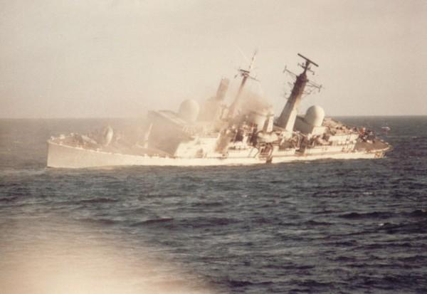 Фото Пораженный британский эсминец