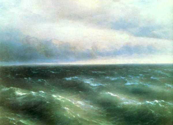 Иван Айвазовский картина 1881г 'Черное море' .