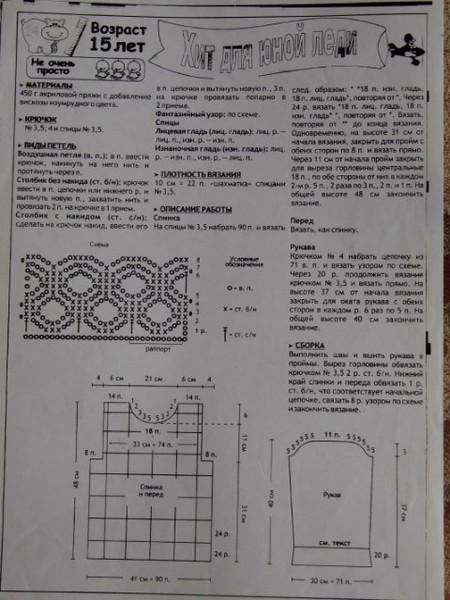 Схема вязания кельтской косички.