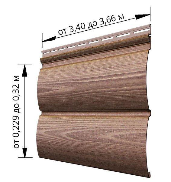 длина сайдинга блок хаус